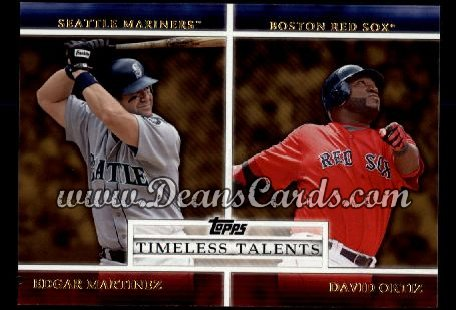 2012 Topps Timeless Talents Inserts #23 TT  -  Edgar Martinez / David Ortiz Timeless Talents