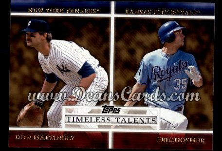 2012 Topps Timeless Talents Inserts #3 TT  -  Don Mattingly / Eric Hosmer Timeless Talents