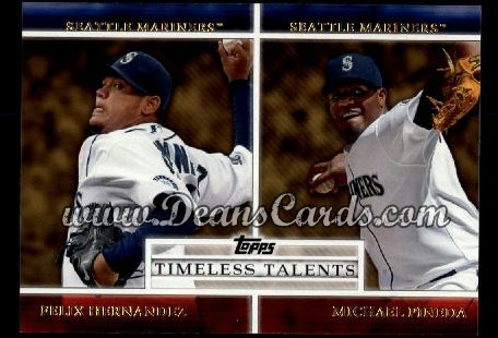 2012 Topps Timeless Talents #6 TT  -  Felix Hernandez / Michael Pineda Timeless Talents