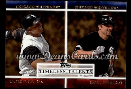 2012 Topps Timeless Talents Inserts #7 TT  -  Frank Thomas / Paul Konerko Timeless Talents