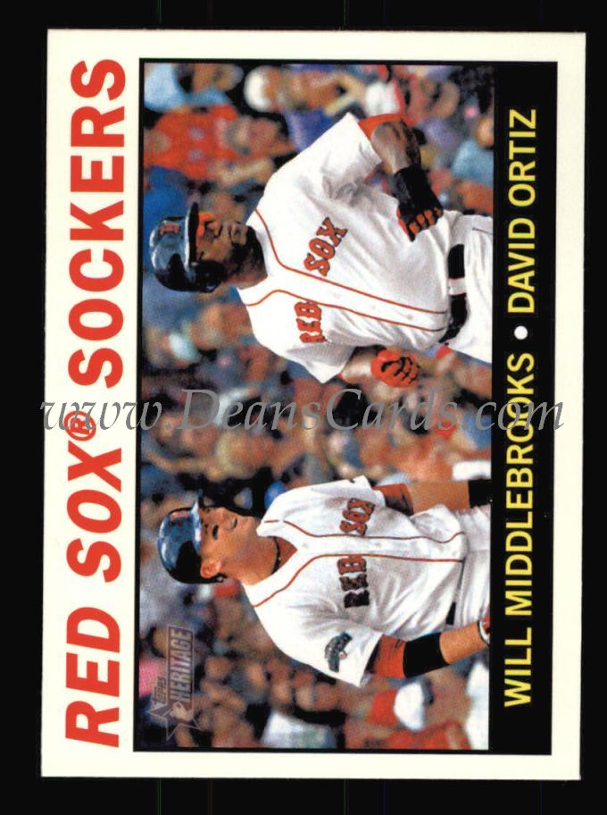 2013 Topps Heritage #155   -  Will Middlebrooks / David Ortiz Red Sox Sockers