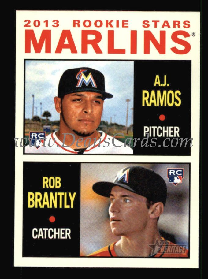 2013 Topps Heritage #287   -  A.J. Ramos / Rob Brantly Marlins Rookies