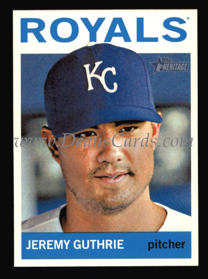 2013 Topps Heritage #367  Jeremy Guthrie