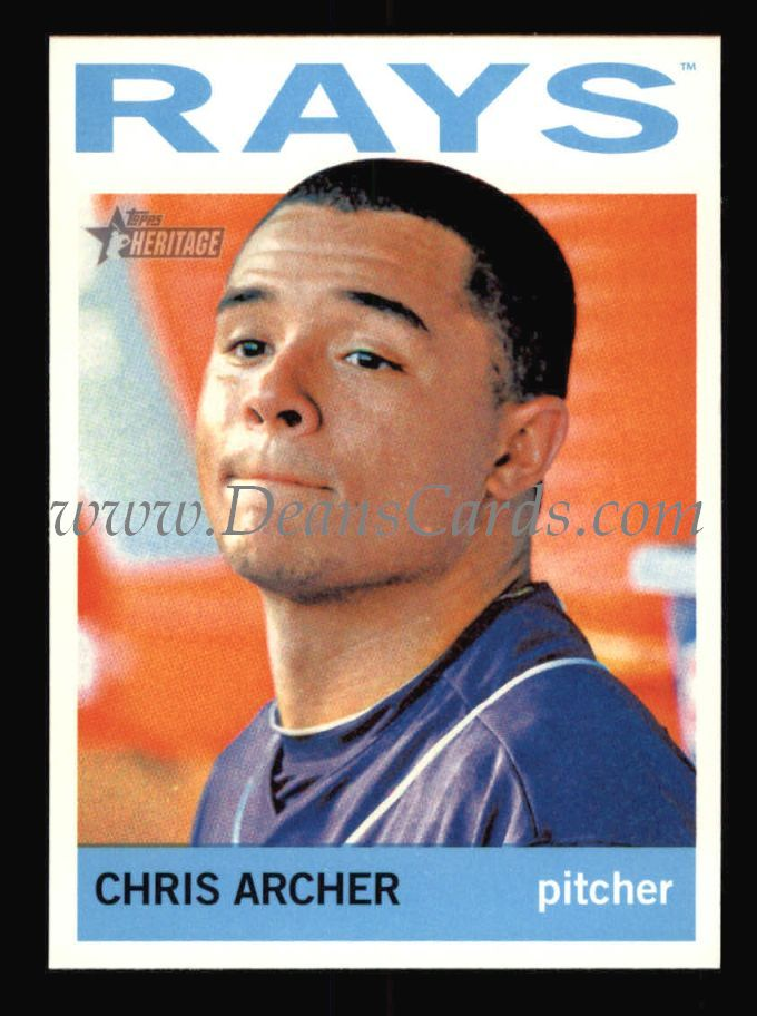 2013 Topps Heritage #411  Chris Archer