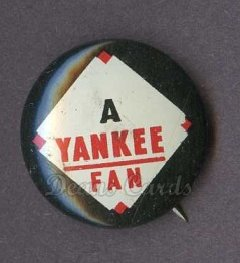 1961 Cranes Potato Chip Pin #20   Yankee Fan