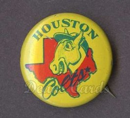 1965 Guys Potato Chip Pin #8   Houston Colt .45s