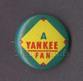 1965 Guys Potato Chip Pin #20   Yankee Fan