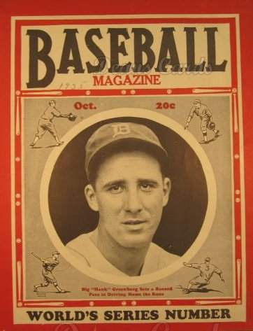 1935 Baseball Magazine    October