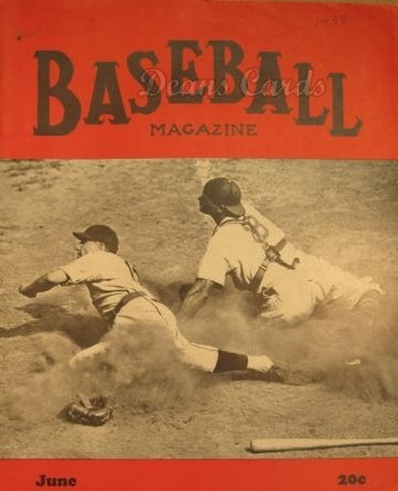 1938 Baseball Magazine    June