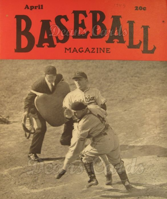 1943 Baseball Magazine    April
