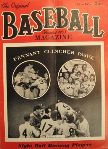 1952 Baseball Magazine    October