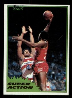 1981 Topps #110 MW  -  Moses Malone Super Action