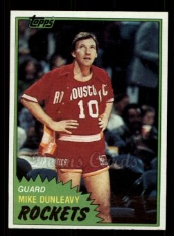 1981 Topps #85 MW Mike Dunleavy