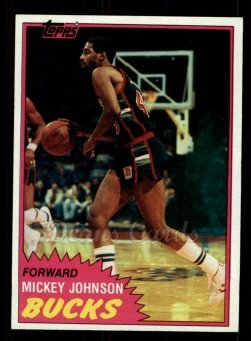 1981 Topps #98 MW Mickey Johnson