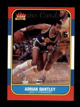 1986 Fleer #21  Adrian Dantley