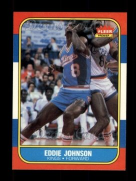 1986 Fleer #51  Eddie Johnson