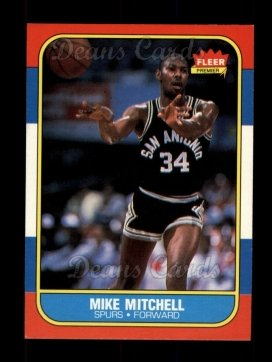 1986 Fleer #74  Mike Mitchell