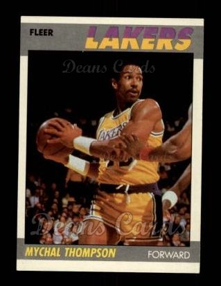 1987 Fleer #108  Mychal Thompson