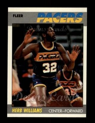 1987 Fleer #121  Herb Williams