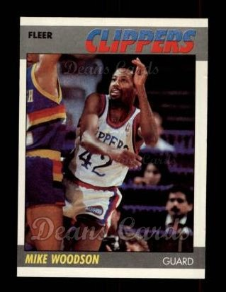 1987 Fleer #128  Mike Woodson