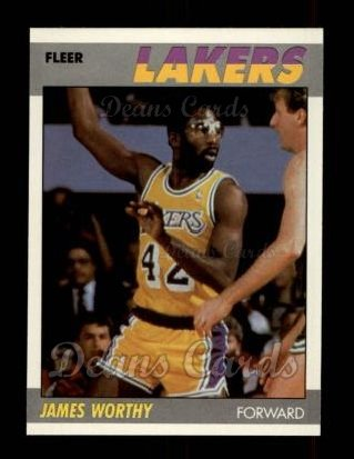 1987 Fleer #130  James Worthy