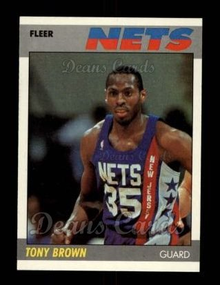 1987 Fleer #14  Tony Brown