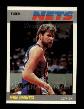 1987 Fleer #41  Mike Gminski