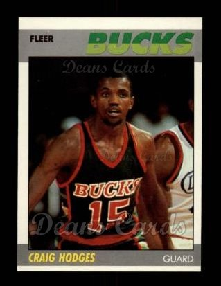 1987 Fleer #52  Craig Hodges