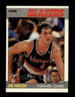 1987 Fleer #82  Jim Paxson