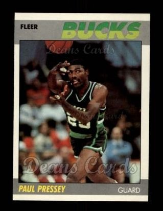 1987 Fleer #90  Paul Pressey