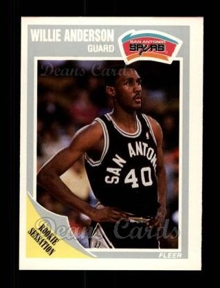 1989 Fleer #140  Willie Anderson
