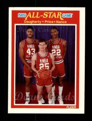 1989 Fleer #166   -  Brad Daugherty / Mark Price / Larry Nance All-Star