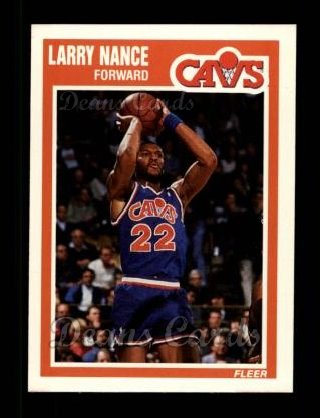 1989 Fleer #28  Larry Nance