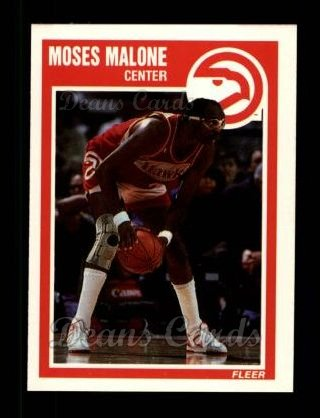 1989 Fleer #4  Moses Malone