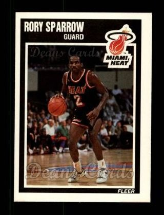 1989 Fleer #84  Rory Sparrow