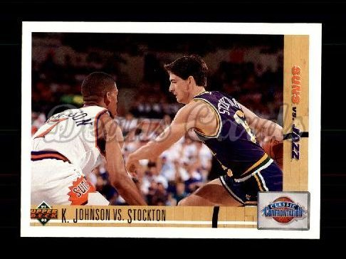 1991 Upper Deck #32   -  Kevin Johnson / John Stockton Classic Confrontations