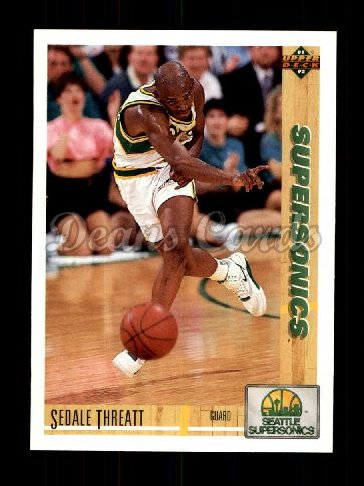 1991 Upper Deck #110  Sedale Threatt