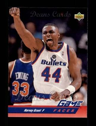 1992 Upper Deck #487   -  Harvey Grant Game Faces