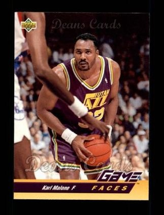 1992 Upper Deck #489   -  Karl Malone Game Faces