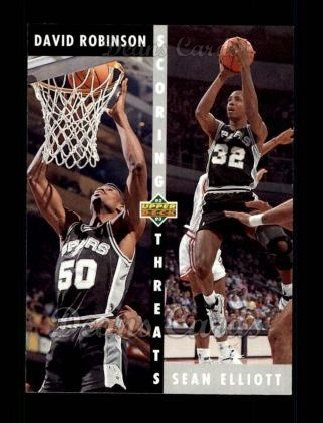 1992 Upper Deck #505   -  David Robinson / Sean Elliott Scoring Threats