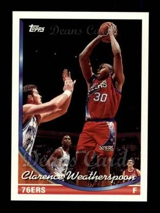 1993 Topps #164  Clarence Weatherspoon