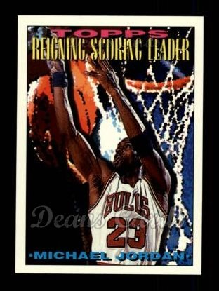 1993 Topps #384   -  Michael Jordan Future Scoring Leader