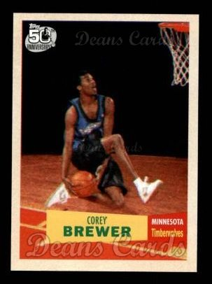 2007 Topps 1957-58 Variation #117  Corey Brewer