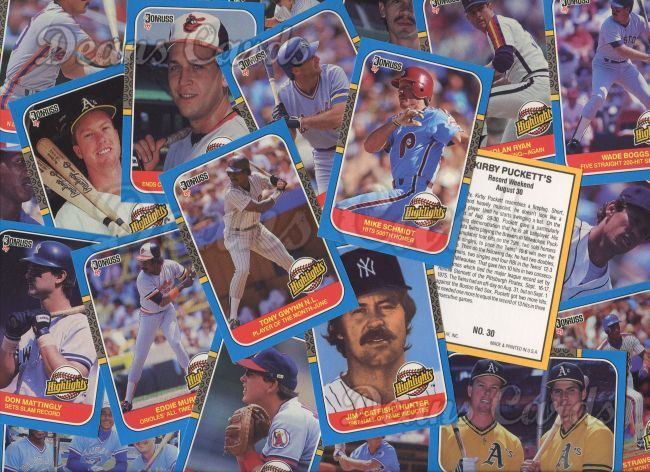 1987 Donruss     Baseball Highlights Complete Set