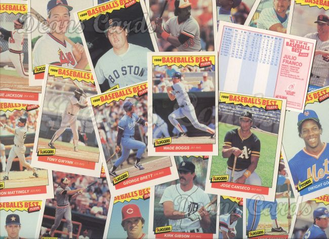 1986 Fleer     Baseball's Best Complete Set