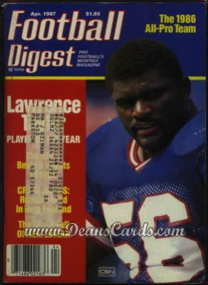1987 Football Digest    April  - Lawrence Taylor