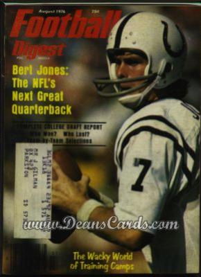 1976 Football Digest    July/August -  Bert Jones