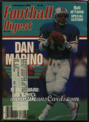 1987 Football Digest    July/August  - Dan Marino