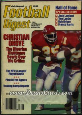 1990 Football Digest    July/August  - Christian Okoye