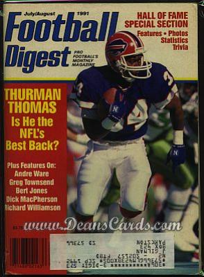 1991 Football Digest    July/August  - Thurman Thomas